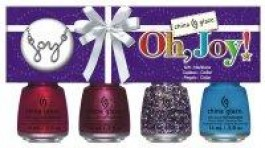 Oh, Joy - Kit 4 esmaltes China Glaze + Colar
